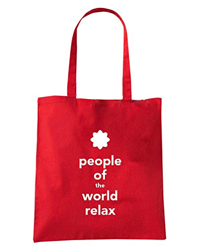 TKC4020 RELAX PEOPLE Shopper THE OF CALM WORLD Borsa KEEP Speed Shirt Rossa AND xTw4q7nF7