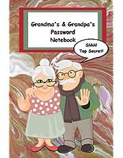 Grandma's & Grandpa's Password Notebook: Shhh! Top Secret! Keep Your Passwords Safe