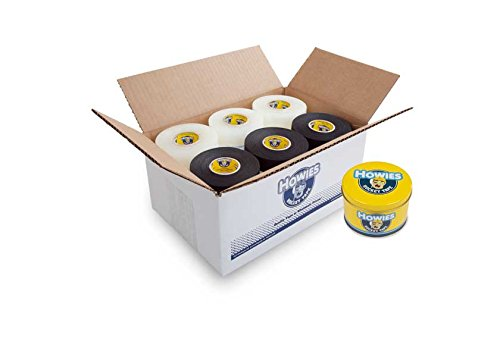 (Howies Hockey Tape - Clear Shin Pad Tape/Black Cloth Tape (30 Pack) and Free Tape Tin)
