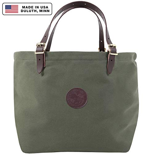 (Duluth Pack Market Tote, Olive Drab, 14 x 18 x)