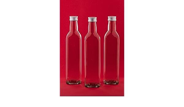 casa-vetro 12 Botellas vacías 500 ML Mar Botellas de Botellas de Zumo con Rosca Incluso SLK 0,5 l L de Licor Botellas Licor Botellas vinagre Botellas ...