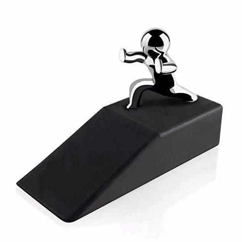 Popowbe Zinc Alloy Little and Man with Non-slip Rubber Bases Door Stop Safe Anti-collision Door Stopper Noveltydesign Decorative by Popowbe