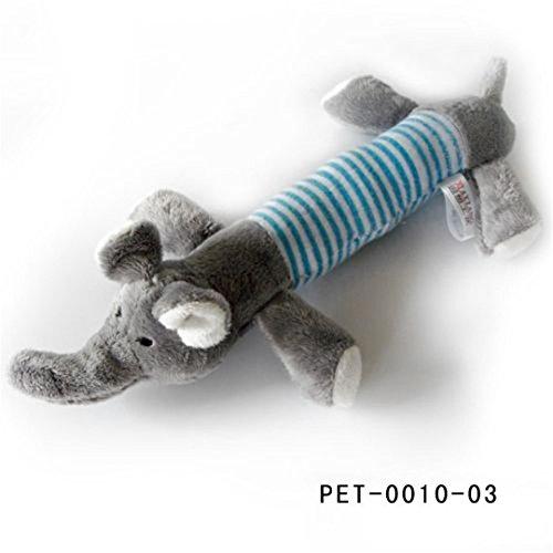 CHOUWUED Dog Pet Puppy Plush Sound Dog Toys Duck Pig & Eleph