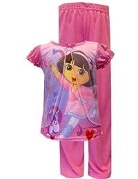 Nickelodeon Dancing Dora Pink Toddler Pajama for Little Girls