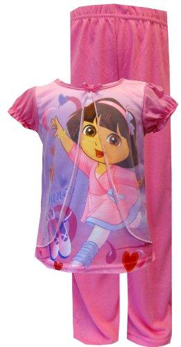 Girls 2t 4t Dora - WebUndies Nickelodeon Dancing Dora Pink Toddler Pajama For Little Girls 21DE349SLKPZA 2T