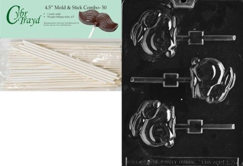 Cybrtrayd Bunny Lolly Easter Chocolate Candy Mold with 50 4.