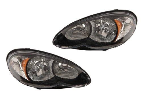 Chrysler Pt Cruiser 06 07 08 09 10 Black Head Light Pair 511604 2 3 Ab Ae Af