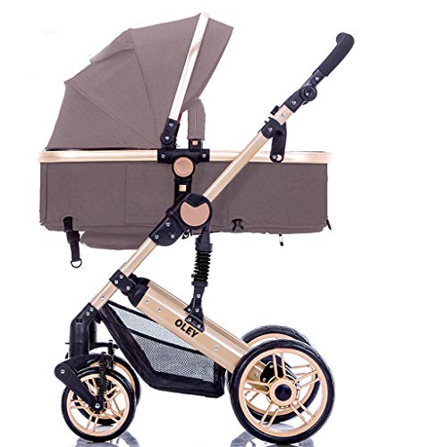 Baby Stroller - can sit Reclining Child Baby Stroller Shock Absorption Folding Stroller (Color : C)