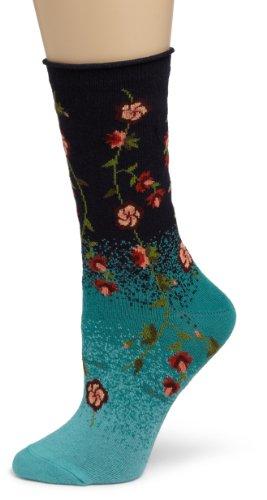 Ozone Women's Tibetan Flowers Sock,Navy,