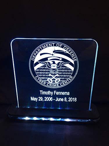 - Custom Award Plaque LED Edge Lit Acrylic Laser Engraved and Cut Sign 6