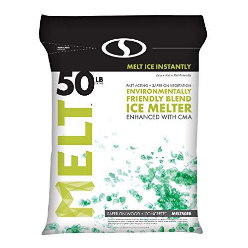 Snow Joe AZ-50-EB Melt-2-Go Nature + Pet Friendly CMA Blended Ice Melter, 50-lb ()