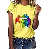 Women Lips Print T-Shirt Clearance Sale,...