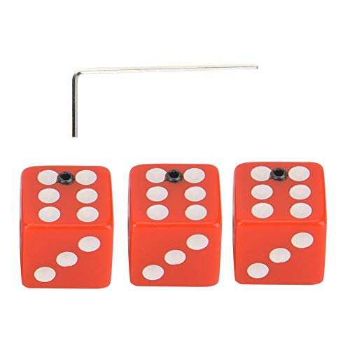 Guitar Control Knobs, 3pcs Red Dice Shape Guitar Knob Volume Tone Control Switch Knobs Button Replacement Accessory for Electric Guitar