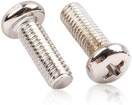 Color : 5mm, Size : M1.4 Fasteners Panel Screws 100pcs//lot Pan Head Machine Screw Steel Nickel Plated M1 M1.2 M1.4 M1.6 M1.7 M2 M2.5 M2.6 M3 Nails