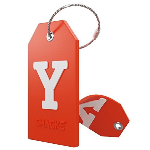 Initial Luggage Tag with Full Privacy Cover and Stainless Steel Loop - (Letter Y) ()