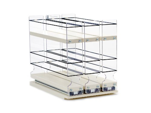 Vertical Spice - 222x1.5x11 DC - Spice Rack - 3 Drawers - 18 Regular/18 Half-size Capacity - Cabinet Mounted