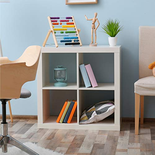 CAP LIVING 2/4/6 Cube Organizer w/Extra Wide Frame, Sturdy Storage Room Divider, 2 x 1/2 x 2/2 x 3 Bookcase, Colors Available in Espresso and White (White, 4 Cube) (4 Storage Cube Organizer)