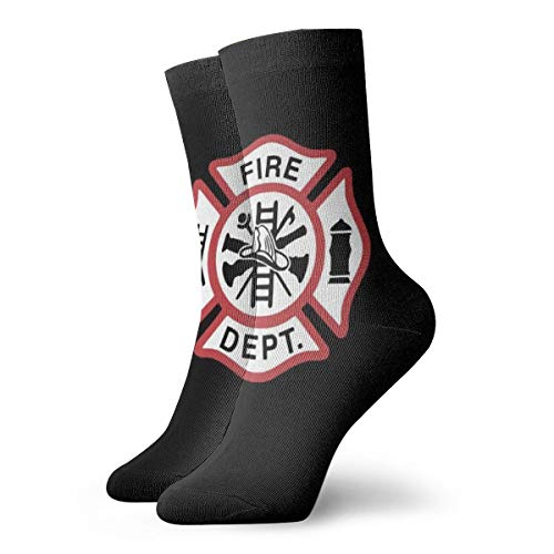 Ankle Short Sports Socks Fire Department Unisex Non Slip Casual Dress Boat Stocking For Men Women Running