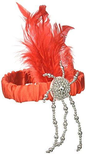 [Forum Novelties 59458 Charleston Flapper Headpiece, Red] (1920s Prohibition Costume)