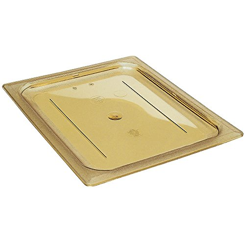Amber Solid Flat Cover Only for One Ninth Size High Heat Food Pan by Cambro
