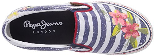 Pepe Jeans London ALFORD JAMAICA - zapatilla deportiva de lona mujer azul - Blau (575NAVAL BLUE)