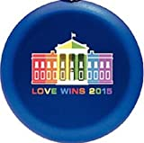 Love Wins 2015 Commemorative Gay Rights Decorative Hanging Ornament - for Year-Round Display or the Holidays, Rainbow White House