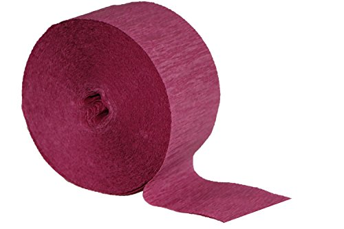 Special Edition Crepe Paper Streamer Party Rolls (Plum Cabernet, 4 Rolls), 290 FEET Total, MADE IN USA (Party Crepe Streamer)