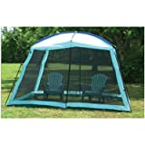 EZ Travel Camping Screen Room Full Enclosure Canopy Shade Gazebo with Dome Top Outdoor Screen Room (12' x 9' x 8')