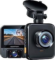 【2021最新版】APEMANドライブレコーダー 前後カメラ 車内+車外カメラ搭載 4赤外線暗視ライト1440PフルHD 170度広角 GPS機能搭載 小型2.31インチ Gセンサー搭載/WDR/夜間対応/常時録画/駐車監視/日本語メニュー...