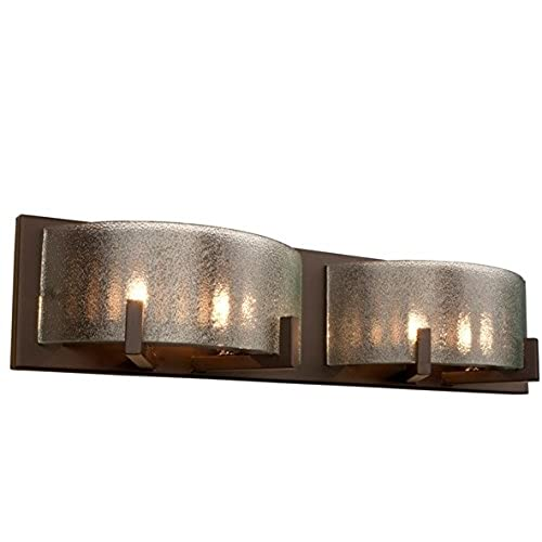 cheap Alternating Current Firefly Pre Assembled Microtexture Glass Modern Bathroom Indoor 50 Watt Bronze Glass Metal Halogen 4 Light Bronze Vanity Fixture