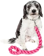 PET LIFE 'Tough-Tugger' Industrial-Strength Shock Absorption Woven Pet Dog Leash, One Size, Pink