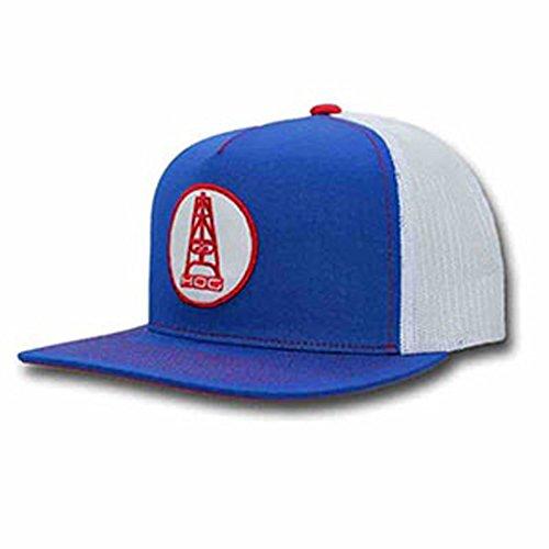 - HOOey Brand Rose HOG Blue/White Mesh Back Snapback Trucker Hat - 3024T-BLWH