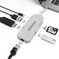 USB C Network HUB, Amavasion USB C HUB with Gigabit Ethernet Port 4K HDMI for Macbook, Mac Pro/Air, Laptop, mini, iMac, Notebooks, Surface Pro, Chromebook.