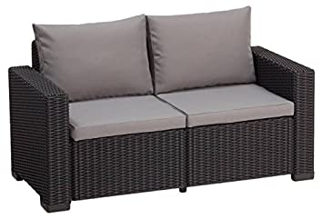 Rattan ecksofa balkon  Amazon.de: Allibert Lounge Sofa, Balkon California, graphit/panama ...