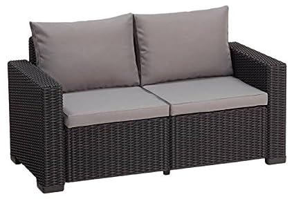 Allibert Lounge Sofa California 2 Sitzer Graphit Panama Cool Grey
