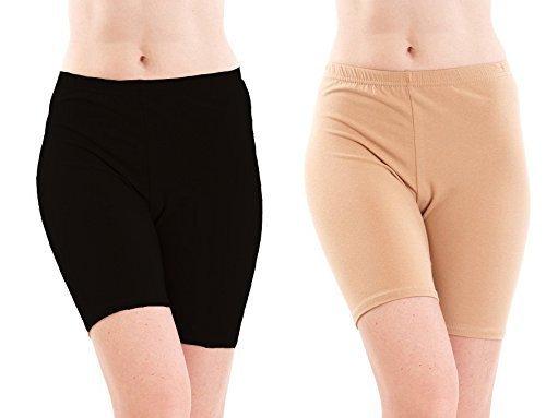 Fashion Line FASHIONLINE Women Black Skin Shorts/Cycling Shorts