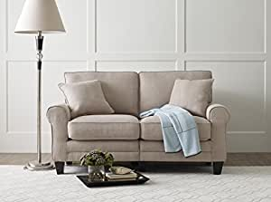 "Serta RTA Copenhagen Collection 61"" Loveseat in Stoneware Beige"