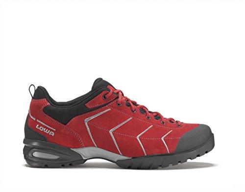 Lowa Palma Zapatos de trekking para hombre (Rojo/Gris) rojo y gris Talla:10.5 - rojo y gris