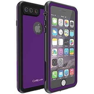 CellEver iPhone 7 Plus / 8 Plus Waterproof Case Shockproof IP68 Certified SandProof Snowproof Full Body Protective Cover Fits iPhone 7 Plus/iPhone 8 Plus - KZ C-Purple