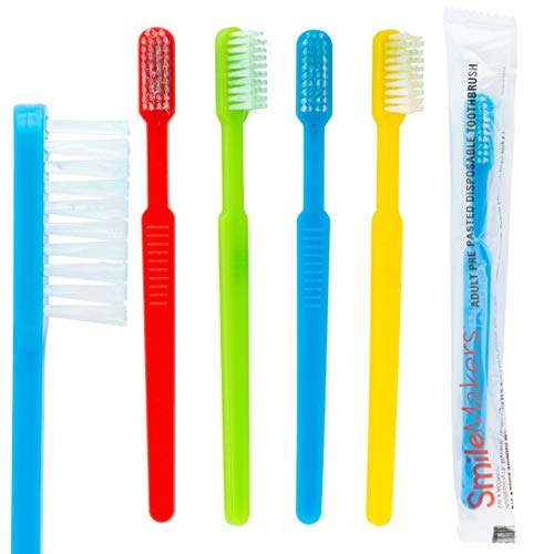 Adult Pre-Pasted Disposable Toothbrushes - 144 per Pack (Toothbrush For Work)