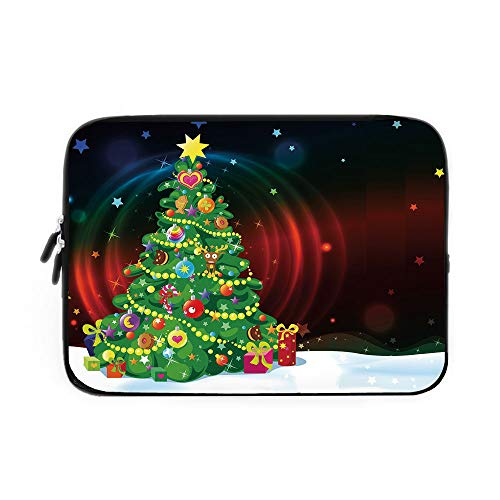 Best Nava Christmas Tree Stands - Christmas Laptop Sleeve Bag,Neoprene Sleeve Case/Colorful