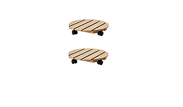 Ikea Soporte de Madera para Plantas con Ruedas, bambú (Juego