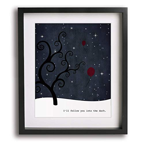 I'll Follow You Into The Dark | Death Cab For Cutie inspired song lyric art print
