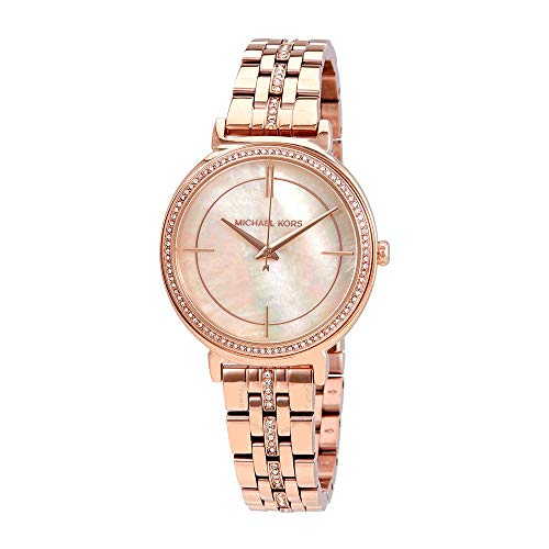 Womans Watch Mother Pearl Of (Michael Kors Women's Cinthia Rose Gold-Tone Watch MK3643)