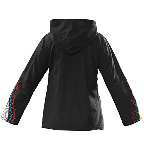 Lined Wicked Colourful Style Hooded Fleece Dragon Winter Coat New Jacket Boho qx107pq