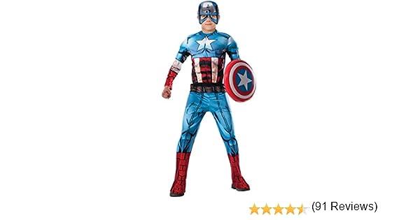 Avengers - Disfraz de Capitan America Premium para niño, 3-4 años ...