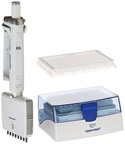 Eppendorf 4922000013 Reference 2 Pipette, 8-Channel, 0.5-10 µl, Medium Grey