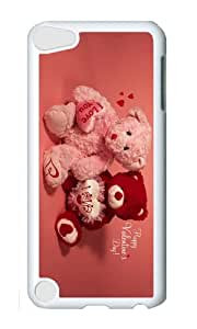 Ipod 5 Case,MOKSHOP Uncommon happy valentines day Hard Case Protective Shell Cell Phone Cover For Ipod 5 - PC White