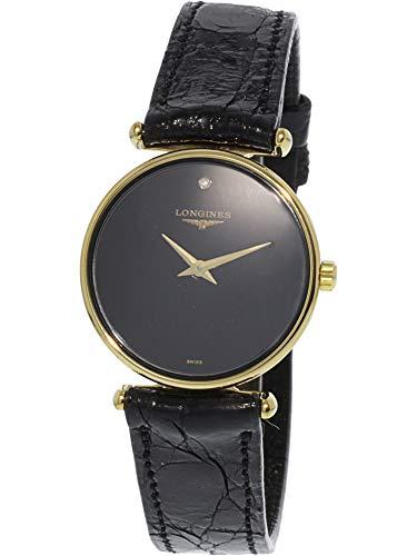 Longines Men's L41352571 Gold Leather Swiss Quartz Dress Watch
