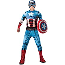 Rubies Costume Deluxe Captain America - Small (4-6)